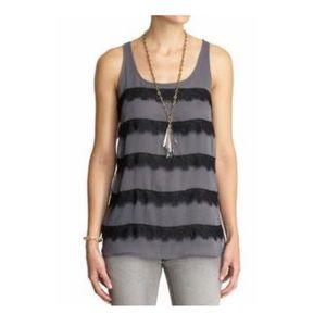 Tinley Road Lace Stripe Tank